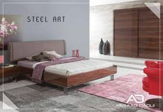 Steel Art Bedroom   Strong and modern… A warm and splendid form that defies years… It is designed for the most beautiful and calm hours of the day