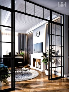 Glass Room Divider, Living Room Divider, Appartement Design, Apartment Interior, Cheap Home Decor, Home Interior Design, Home Remodeling, Living Room Designs, Architecture Design