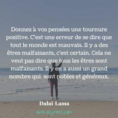 Donnez à vos pensées une tournure positive