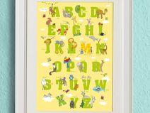 Tolles ABC-Poster! Die Frizzles helfen beim Lesen und Schreiben lernen.