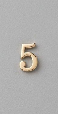 Jennifer Zeuner number 5 earring