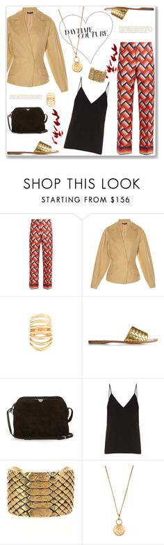 """""""How about going to that fancy restaurant tonight?"""" by marialibra ❤ liked on Polyvore featuring F.R.S For Restless Sleepers, The Row, Theodora Warre, Bottega Veneta, Raey, Yves Saint Laurent and Aurélie Bidermann"""