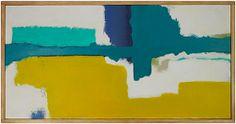 "Jenny Prinn Raining in Portland Acrylic and mixed media on canvas. Handmade frame by the artist. 12"" x 24"" Yarmouth, Maine $450"