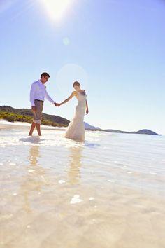 Queensland wedding locations | Whitehaven Beach bliss! #love #beachwedding #sunshine