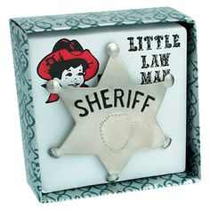 LAW MAN BADGE Schylling is one of the countrys leading manufacturers of specialty toys. Biscuit Home, La Mans, Sheriff Badge, Little Gentleman, Little Cowboy, Cowboy Party, Baby Toys, Houston