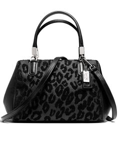 COACH MADISON MINI SATCHEL IN OCELOT CHENILLE - Coach Handbags - Handbags & Accessories - Macy's