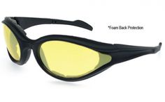 Black Frame/Yellow Lens  #motorcycle #sunglasses #ride #safe #safety #sunnies #summer  www.anysunglasses.com www.pinterest.com/anysunglasses.com