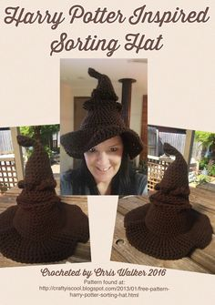 Harry Potter Sorting Hat. I found that this pattern did not allow for a nose 5e9fe9dfcb9