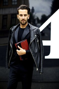 The Classy Issue Mens Fashion Blog, Best Mens Fashion, Fashion Moda, Men's Fashion, Paris Fashion, Street Fashion, Leather Fashion, Leather Men, Leather Jacket