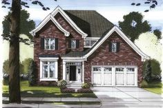 Traditional Style 2 story 4 bedrooms(s) House Plan with 2304 total square feet and 2 Full Bathroom(s) from Dream Home Source House Plans