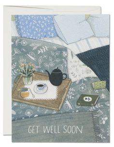 Tea In Bed Art by Yelena Bryksenkova Picnic Blanket, Outdoor Blanket, Fruit Party, Ceramic Studio, Get Well Soon, Beautiful Drawings, Animal Party, Blank Cards, Artist At Work