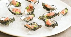 Fresh Asian-style oysters are a fantastic way to start your Christmas celebration. Also known as Japanese Slipper Oysters. Serve with wedges of lime or lemon and fresh sliced chilli. Oyster Recipes, Asian Recipes, Ethnic Recipes, How To Make Sashimi, Shellfish Recipes, Roast Dinner, Tasty, Yummy Food, Lunch Menu