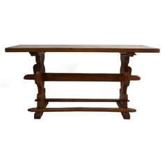 Baroque Style Trestle Table | From a unique collection of antique and modern farm tables at https://www.1stdibs.com/furniture/tables/farm-tables/