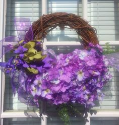Spring/Summer Grapevine Wreath. $40.00, via Etsy.