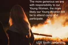 For most of us, camp is about three or four months away. I've now participated in five girls' camps as an adult leader, but I learned the most from my first camp as Young Women President. I came in only a couple of months before camp.  I asked a friend of mine who had served as a … … Continue reading →