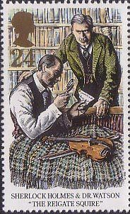 Sherlock Holmes 24p Stamp (1993) The Reigate Squire