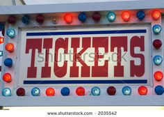 antique carnival signs | Carnival Ticket Stand Booth Sign Stock Photo 2035542 : Shutterstock