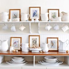White Dishes... Farmhouse style is a post that shares how to create a beautiful, dish filled vignette. Using a few supporting elements take it over the top