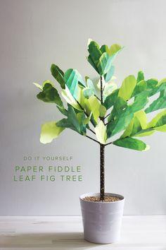 DIY paper fiddle leaf fig tree