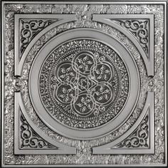 The Steampunk movement creatively blends elements of modern technology, science fiction, and Victorian fashion. Our 225 Steampunk faux tin drop - in ceiling tile is a fun tribute to the Steampunk styl Faux Tin Ceiling Tiles, Tin Tiles, Metal Ceiling, Ceiling Panels, Ceiling Coverings, Ceiling Art, Ceiling Design, Covering Popcorn Ceiling, Steampunk