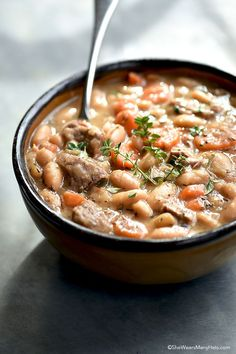 Beef and Bean Soup R