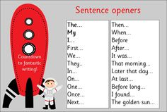 VCOP KS1 Sentence openers mat - Quality Primary Resources