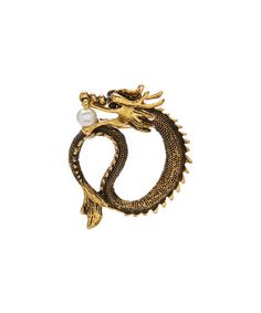 Loving this Goldtone Dragon Brooch on #zulily! #zulilyfinds