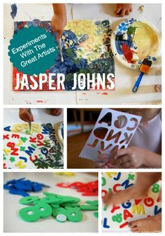 Painting experiments with the great artists (American artist, Jasper Johns).