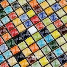 Blue Glass Mosaic Swimming Pool Tile CGMT Green Glass Mosaic - Cheap shower tile for sale