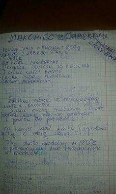 Makowiec z jabłkami Polish Recipes, No Bake Cake, Recipies, Food And Drink, Cooking Recipes, Sweets, Cakes, Recipes, Deserts