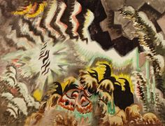 Charles Burchfield -The Moth and the thunderclap