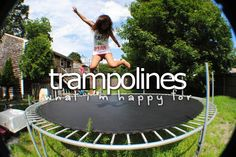 happiness, jump, trampolines
