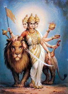 Durga Ji, Saraswati Goddess, Kali Goddess, Goddess Art, Durga Painting, Lord Shiva Painting, Indiana, Durga Images, Krishna Statue