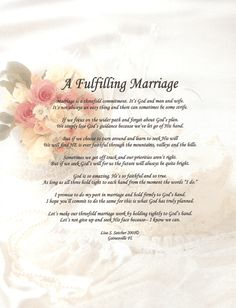 Godly Wedding Poems | ... Inspirational Christian Poetry - Poems - A Fulfilling Marriage