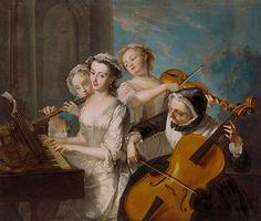 Philippe Mercier, The Sense of Hearing, 1744-7