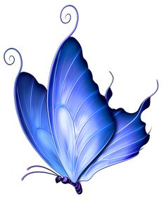 Transparent Blue Deco Butterfly PNG Clipart