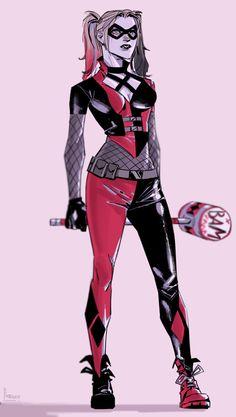 Call me Harley, everyone does Batgirl, Catwoman, Comics Girls, Dc Comics, Super Hero Costumes, Bat Family, Elder Scrolls, Cosplay Outfits, Marvel Characters