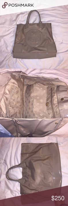 TORY BURCH TOTE BAG!!! large nude tory burch bag only been worn a handful of times perfect condition!!!! Tory Burch Bags Totes