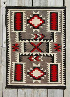 C1940s Crystal Storm Navajo Rug Native American Indian Blanket Navaho Textile   eBay