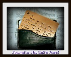 A note to your husband that won't fall apart. He can carry it in his wallet. Great anniversary gift idea!