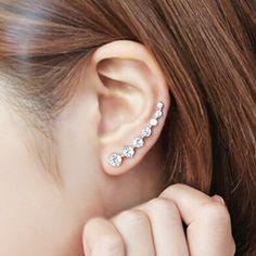 925-sterling-silver brincos para as mulheres refinamento Cubic Zircon diamante sete Pente brincos Sterling - prata - jóias A165