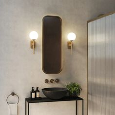 Tacoma Single Best Bathroom Lighting, Bathroom Wall Lights, Contemporary Wall Lights, Brass Lamp, Wall Brackets, Coups, Interior Lighting, Amazing Bathrooms, Sconces