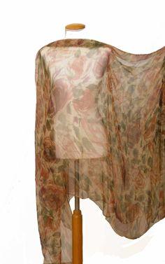 blusón de gasa de seda estampada JULUNGGUL by Julia Munilla