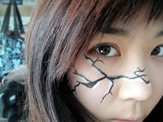 cracked makeup