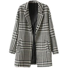 Notch-lapels Swallow-gird Md-long Coat ($52) ❤ liked on Polyvore featuring outerwear, coats, jackets, blackfive, longline coat and long coat
