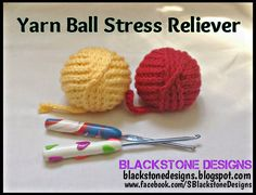 Blackstone Designs: Yarn Ball Stress Reliever ~ free pattern ᛡ