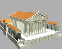 Reconstitution du temple de venus Tel qu'il était à l'origine, voulu par l'Empereur  Hadrien.
