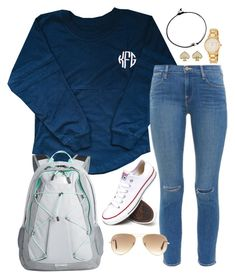 """Read D! "" by robramey17 ❤ liked on Polyvore featuring The North Face, Frame Denim, Converse, Kate Spade and Ray-Ban"