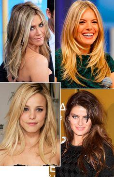 Corte cabelo em camadas.