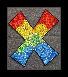 Carta X x  ambas mayúsculas y minúsculas por MouseAndMePrints